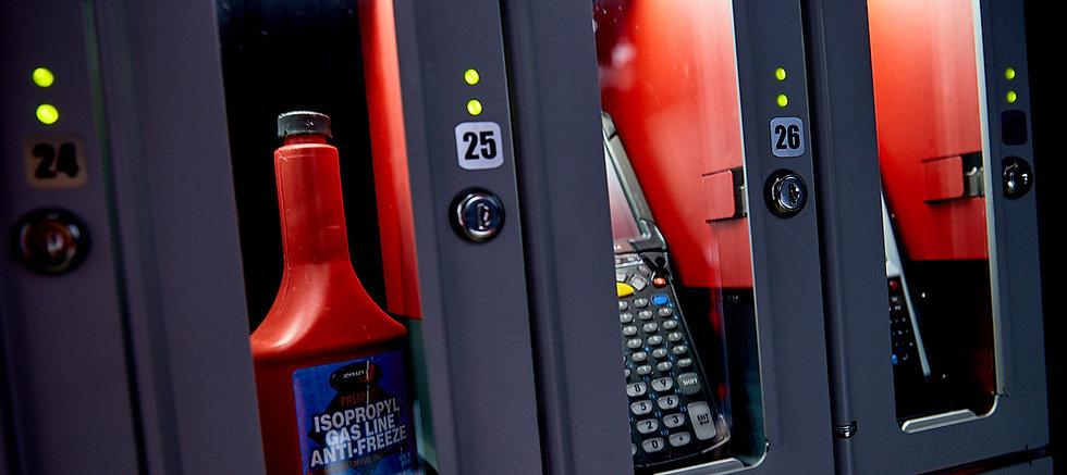 Detail shot of the FX Locker doors.