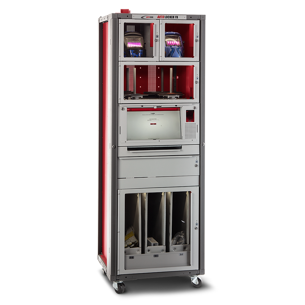A smart locker system with weight-based sensing technology.