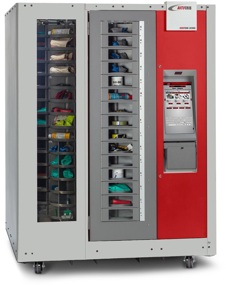 A complete stock management and inventory control system, packaged in an automated dispensing machine.
