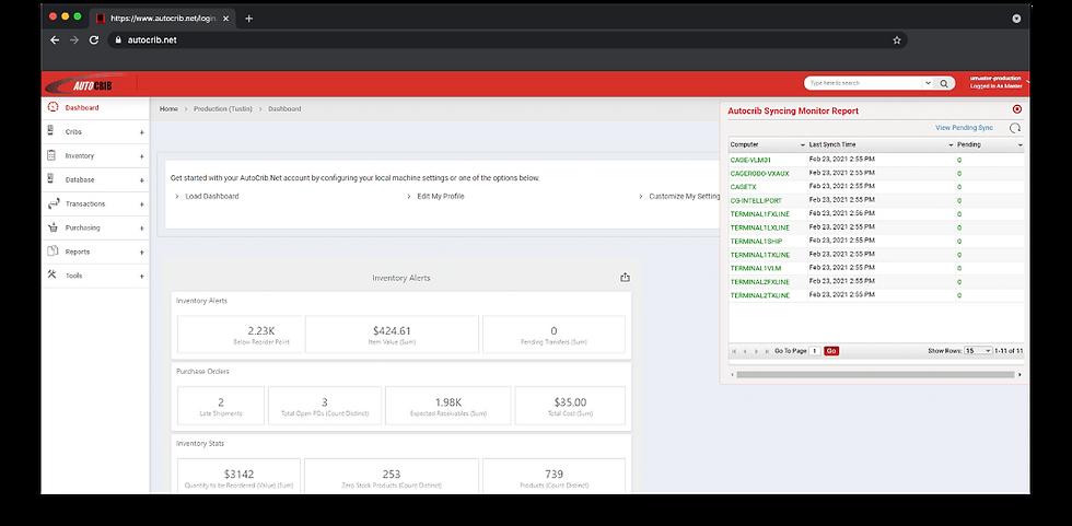 Cost Savings Dashboard Screenshot