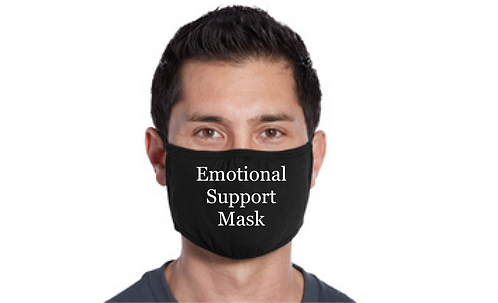 Emotional Support Mask-Black