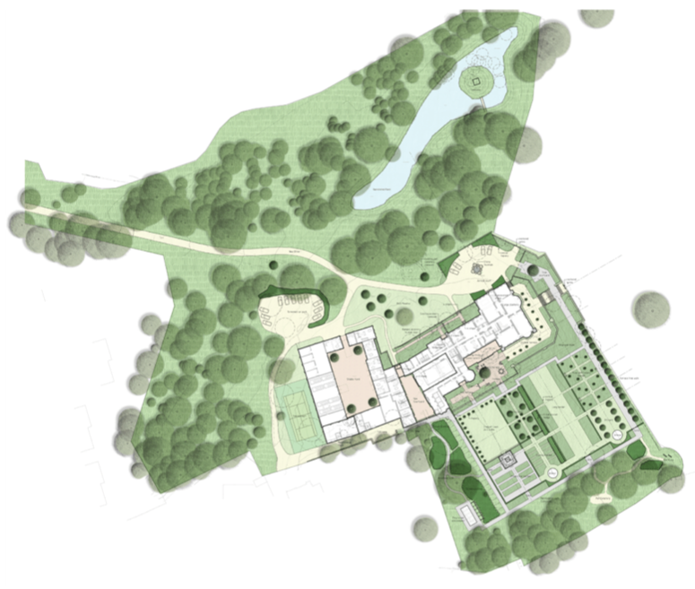 Tom Stuart-Smith's landscape layout for Cuerden Hall