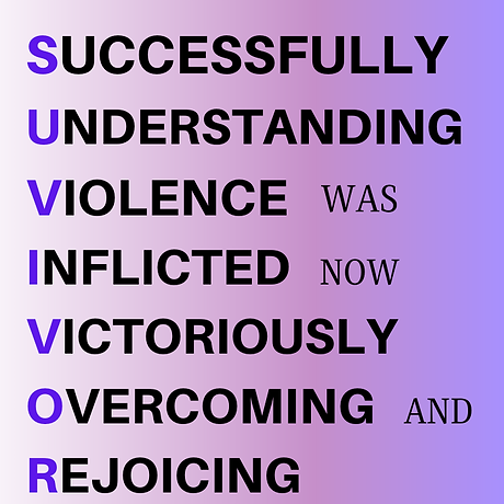 SUCCESSFULLY UNDERSTANDING VIOLENCE INFL