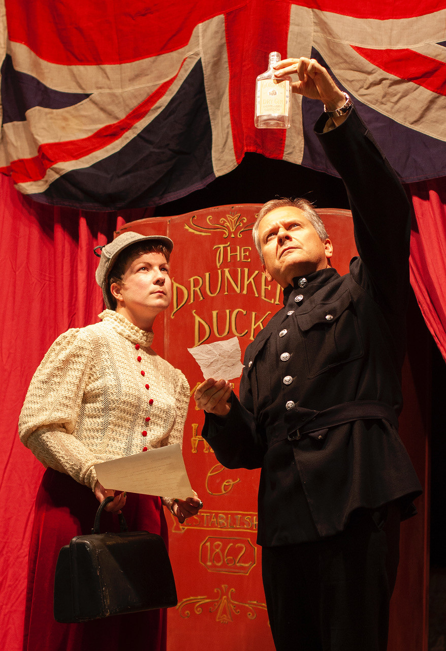 Julie Nye plays Shirley Holmes alongside Simon Charles in Murder at the Music Hall.