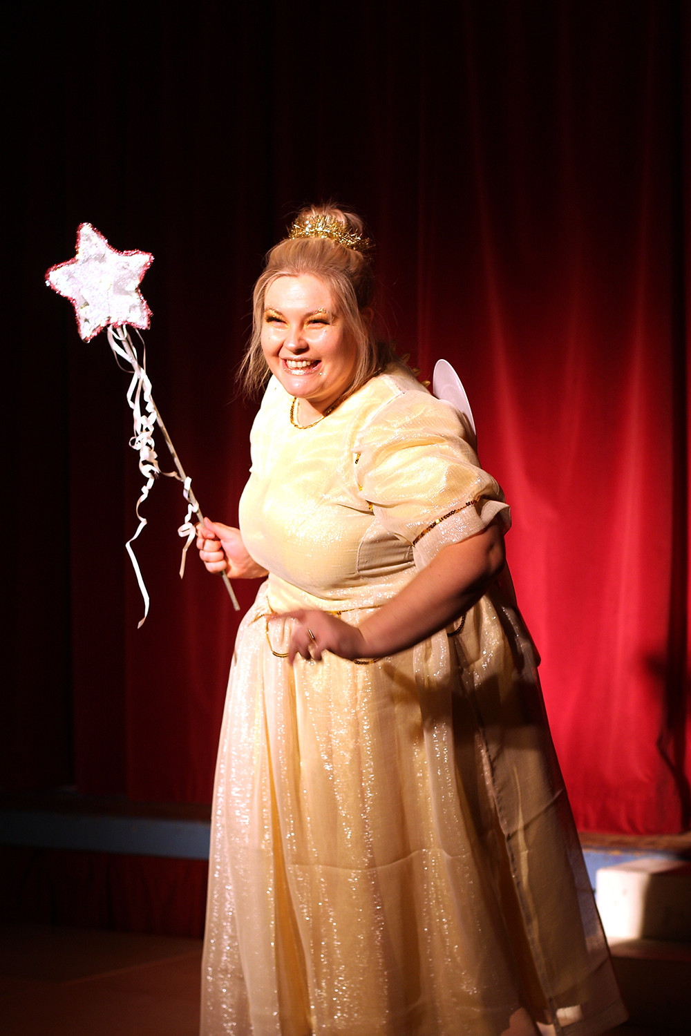 Charli Pay plays the magical and mischeivous fairy in Dick Whittington, the panto, 2019.