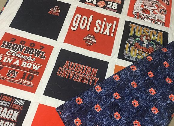 Original Quilt with Sashing (price per block/shirt logo used)