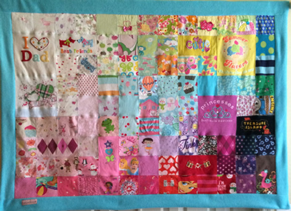 """36""""x48"""" Baby Clothes Quilt"""