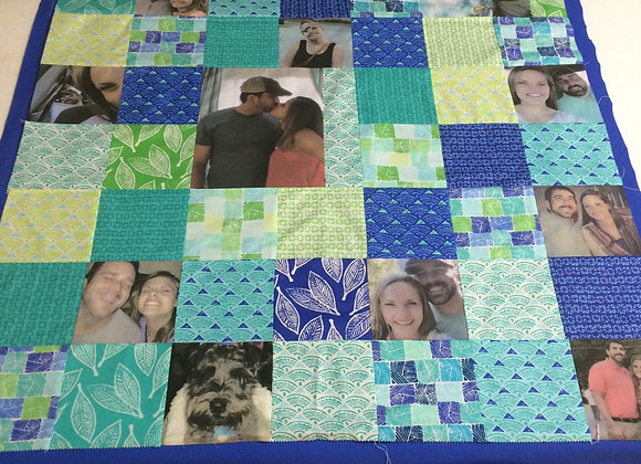 """35""""x40"""" Photo Memory Wall Hanging Quilt"""