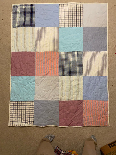 Simple Quilt with Clothing