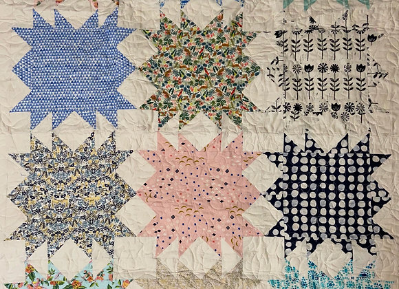 Cotton and Steel Fabrics Lap Quilt