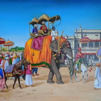 Nawab Bahadur Khan III procession