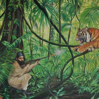 Aga Khan II jungle scene