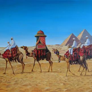 Cairo desert caravan