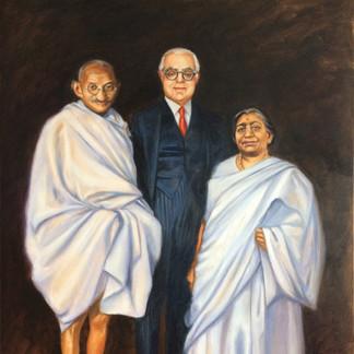 Ghandi, Aga Khan III & Sarojini Naidu