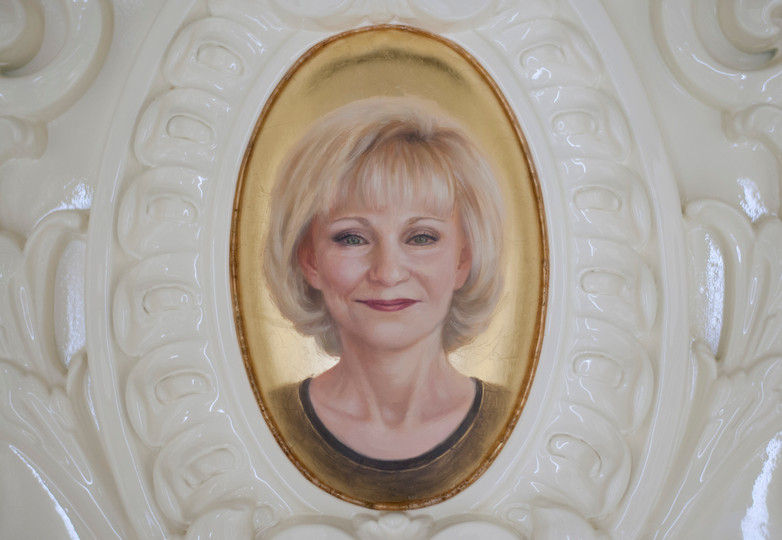 Ornamental moulding portrait