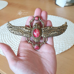 Red Scarab Necklace
