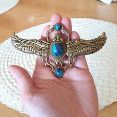 Blue Scarab Necklace