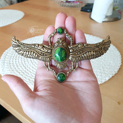 Green Scarab Necklace