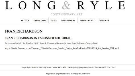 Long & Ryle Contemporary Art Website