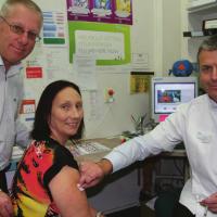 Parents raising awareness of Meningococcal C vaccination