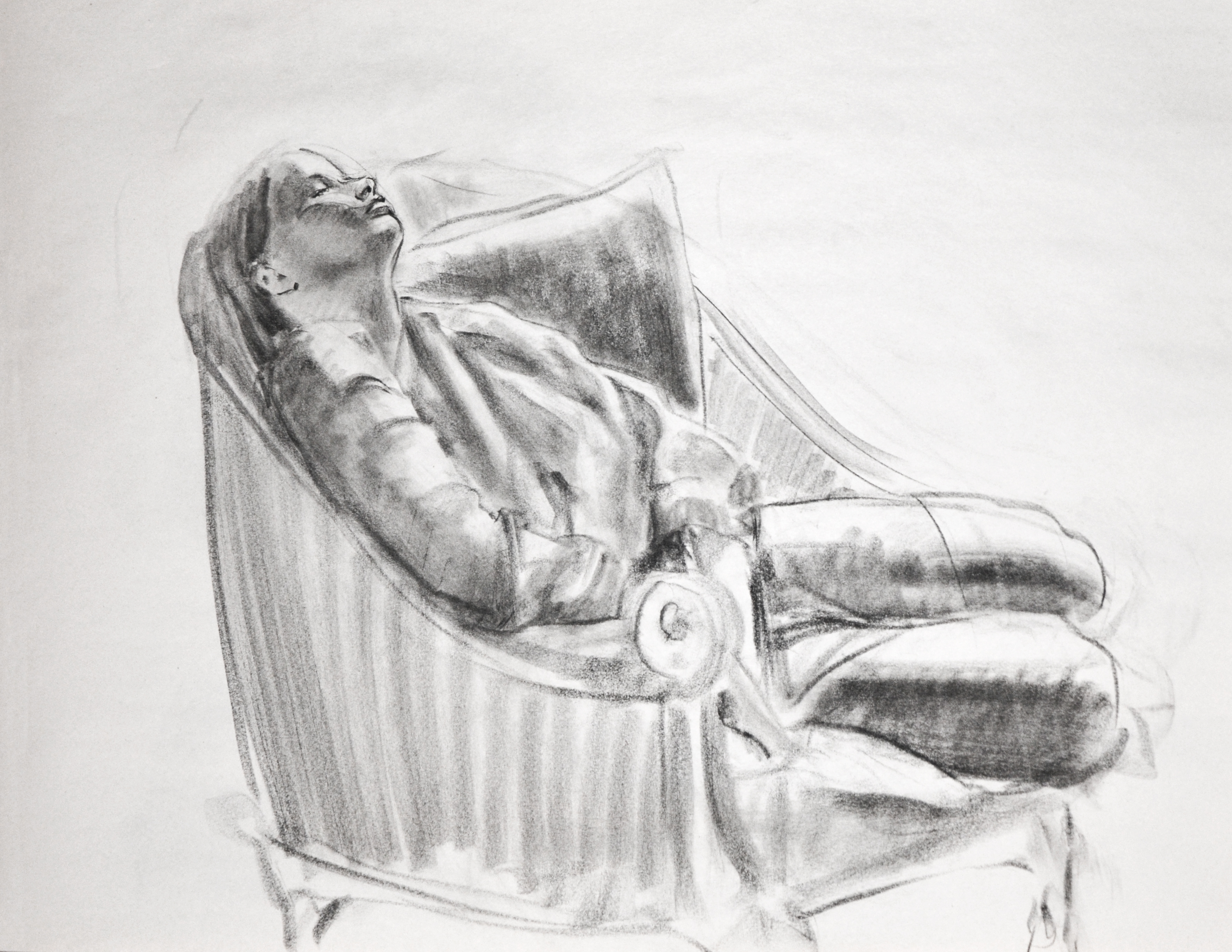 Resting woman.