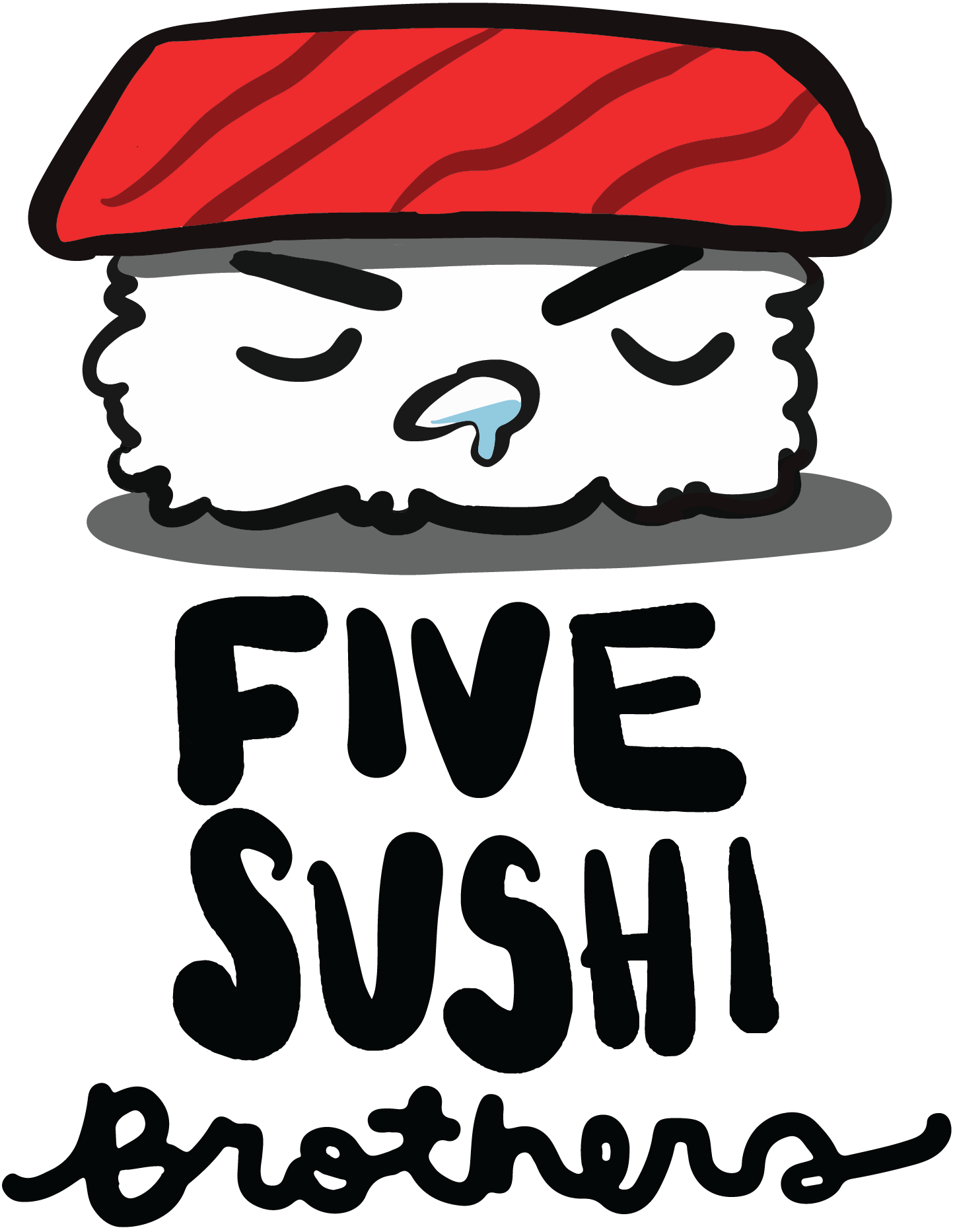 Five Sushi Logo(stacked)
