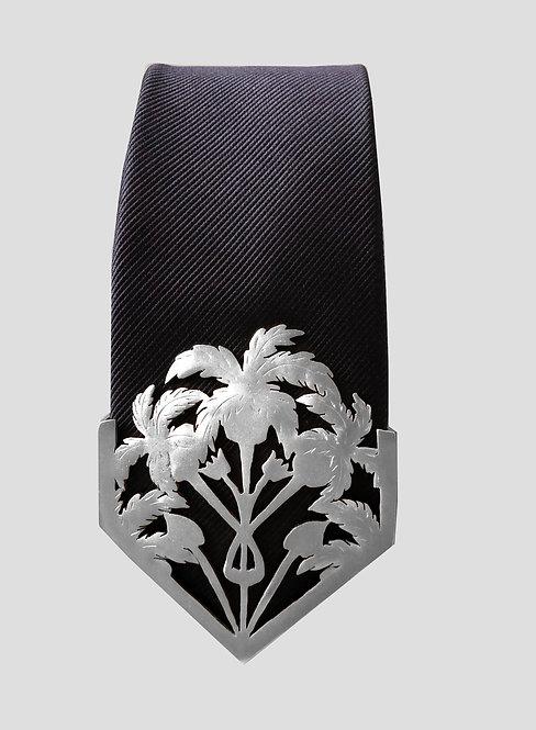 Oasis Textured Tie - Silver