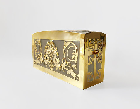 Sadaf Cleo Clutch Gold