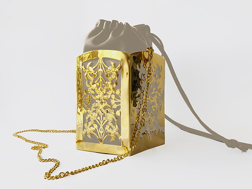 Sadaf PentaPalm Bucket Bag Gold