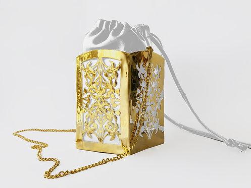 Angelica PentaPalm Bucket Bag Gold