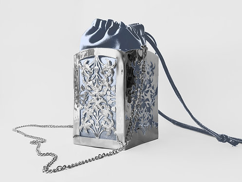 Liz Taylor PentaPalm Bucket Bag Silver