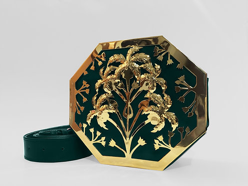 Emerald Octapalm Interchangeable Bag Gold