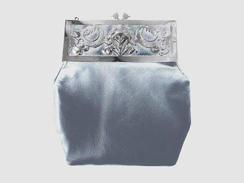Liz Taylor Deco Palm Purse Silver