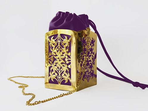 Amethyst PentaPalm Bucket Bag Gold