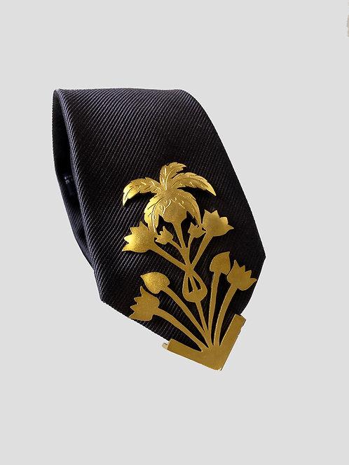 Tropico Textured Tie - Gold