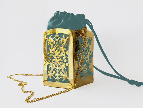 Nile PentaPalm Bucket Bag Gold