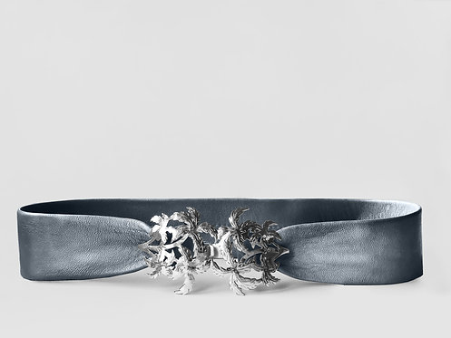 Liz Taylor Tropico Belt Silver