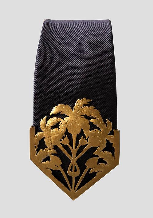 Oasis Textured Tie - Gold