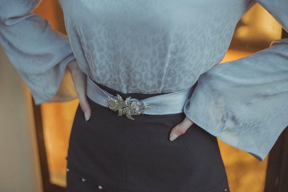 Liz Taylor Silver Palma Belt