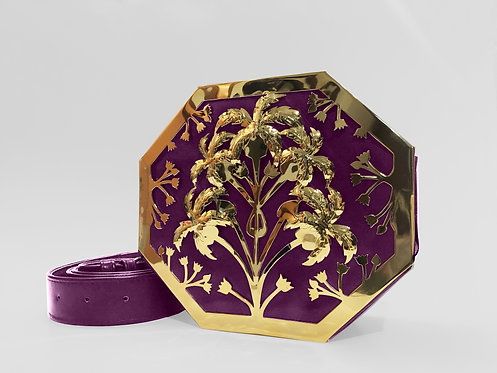 Amethyst Octapalm Interchangeable Bag Gold