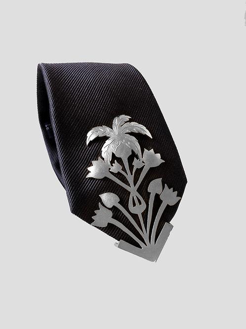 Tropico Textured Tie - Silver