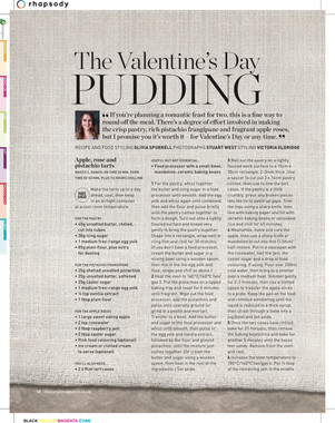 Valentines day pudding