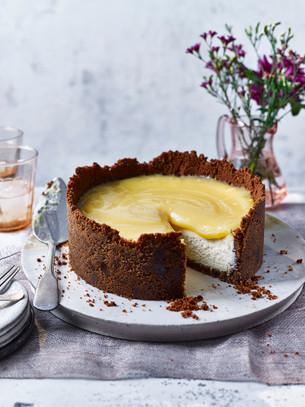 Limoncello and white chocolate cheesecake