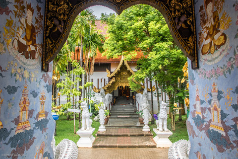 Kim Wealleans - 18-From a doorway at Wat Pa Dara Phirom