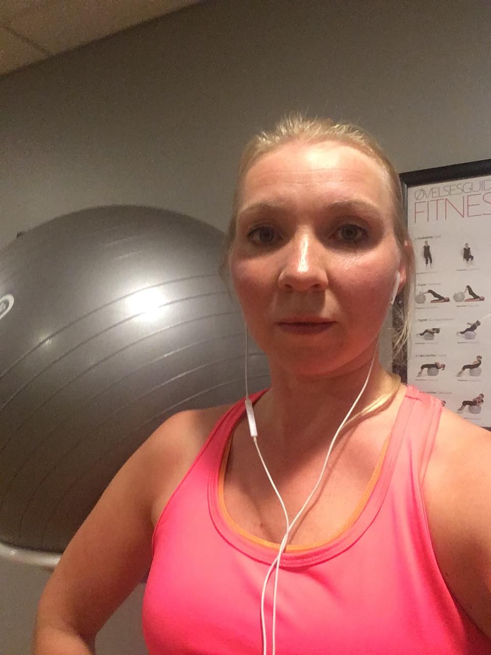 Etter trening på Scandic hotellet i Herning,Danmark