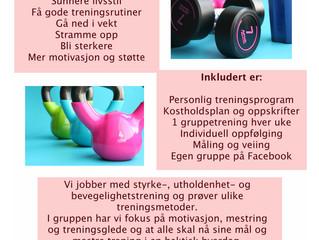 """PT-gruppen """"I gang etter sommeren"""" 8 uker."""
