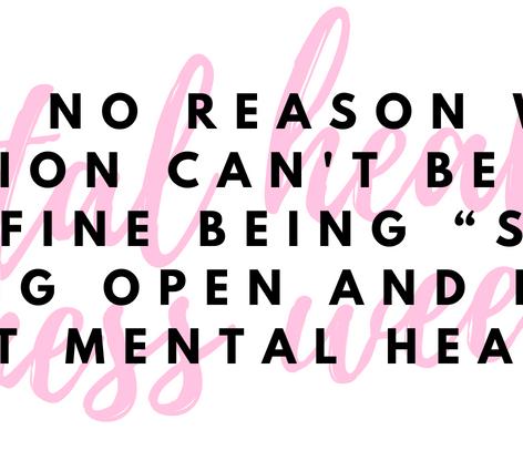 Mental Health (MHA Week 2018)