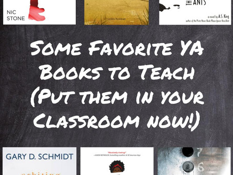 Some Favorite YA Books to Teach(Put them in your Classroom now!)