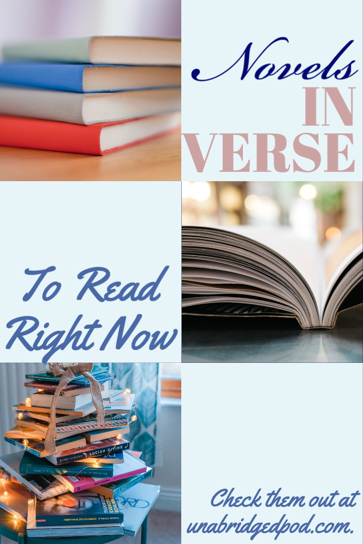 Collage of book pictures and words Novels in Verse to Read Right Now