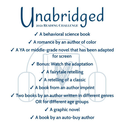graphic for Unabridged's 2021 Reading Challenge